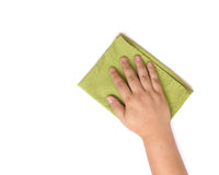 Green table cleaning rag Royalty Free Stock Photos