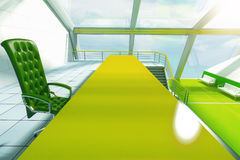 Green table closeup Stock Image