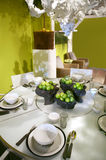 Green table decoration Royalty Free Stock Photography