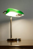 Green table lamp Royalty Free Stock Images