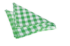 Green table napkins Stock Photos