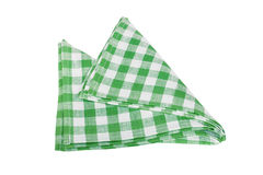 Green table napkins Royalty Free Stock Images