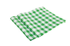 Green table napkins. Green table napkin on white background isolated Stock Image