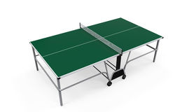 Green Table Tennis Stock Images