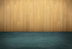 Green table with wooden wall background Royalty Free Stock Images