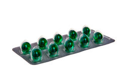 Green tablets. Royalty Free Stock Photos