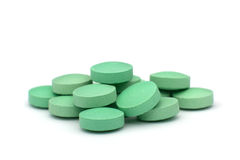 Green tablets Stock Photos