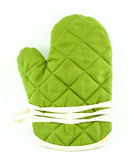 Green tableware or Kitchen glove Stock Photo