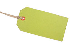 Green Tag Stock Photography