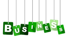 Green tag bussiness Royalty Free Stock Photo