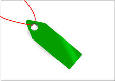 Green tag for web advertising Stock Photo