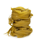 Green tagliatelle Royalty Free Stock Images