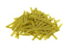 Green tagliatelle pasta Royalty Free Stock Photos