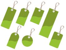 Green tags Stock Images