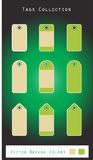 Green Tags Collection Royalty Free Stock Photos