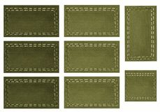 Green Tags,Scrapbook Royalty Free Stock Photos