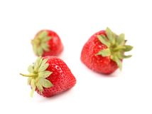 Green tails of strawberries Royalty Free Stock Photo