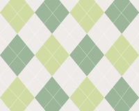 Green, tan and white argyle Stock Photography
