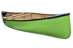 Green tandem canoe isolated Royalty Free Stock Photos