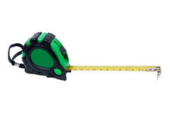 Green tape measure Stock Photo