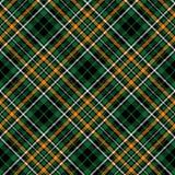 Green tartan celtic seamless pattern diagonal fabric texture Stock Photography