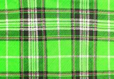 Green tartan fabric texture Royalty Free Stock Photos