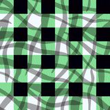 Green tartan fabric texture in a square pattern seamless vector illustration eps10 royalty free illustration