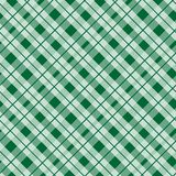 Green tartan fabric texture in a square pattern seamless vector illustration stock illustration