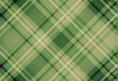Green Tartan plaid fabric pattern background Stock Images