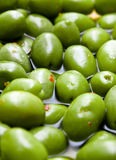 Green tasty spicy olives Royalty Free Stock Photography