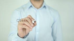 Green Tax Credits, Writing on Screen. Man writing stock footage