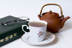 Green Tea. Chinese style tea set Royalty Free Stock Photo