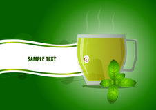 Green_tea Photographie stock libre de droits