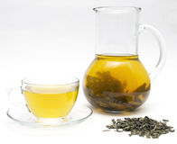 Green tea. On white background Stock Images