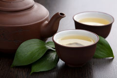 Green tea. Traditional green tea in cups Royalty Free Stock Image