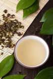 Green tea. Oolong in traditional cup Royalty Free Stock Image