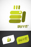 Green tea. Creative hot green tea cup design. Vector EPS10 file included Stock Images