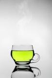 Green tea. Photo hot green tea cup Royalty Free Stock Photography