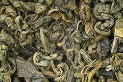 Green tea. Close-up of leaf green tea Stock Photo