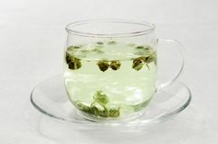 Green Tea. A glass of green tea Royalty Free Stock Photography