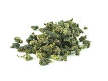 Green tea. Green tea on studio isolated background stock photos