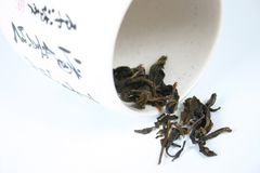 Green tea. From china cup Stock Photo