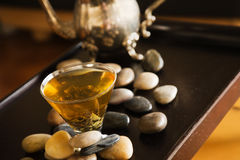 Free Green Tea And Pebble Stones Royalty Free Stock Photo - 4311415