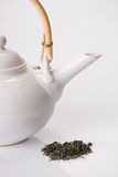 Green Tea And Teapot Royalty Free Stock Images