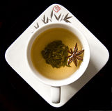 Green tea with anise Stock Photography