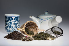 Green tea assortment Stock Photos