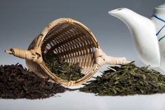 Green tea assortment Royalty Free Stock Images
