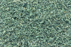 Green Tea Background. The background and texture of dry green tea Royalty Free Stock Photography