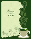 Green tea background design Stock Images