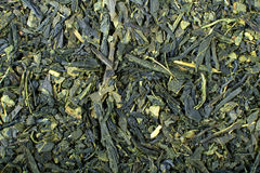 Green tea background. Japanese green tea leaf background Royalty Free Stock Images